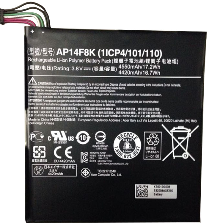 Acer Iconia Tab A1-850 B1-810 ... battery
